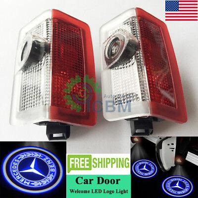 2x Cree LED Door Courtesy Laser Logo Lights Mercedes C-CLASS 2 Doors Coupe 10-19