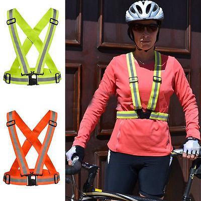 Reflective Adjustable Safety Security High Visibilities Vest Gear Stripes Jacket