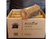 Box Ecofire Hardwood Firewood Wood Briquette Eco heat Logs, Christmas fuel,stove multi fuel burner