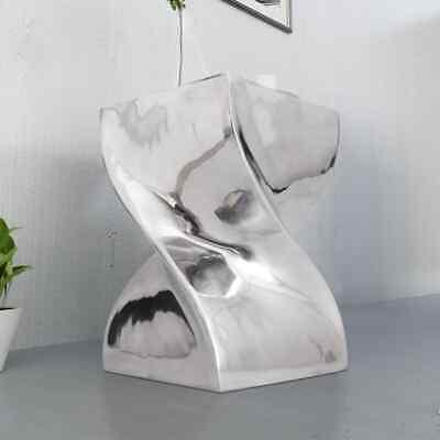 Modernen Twist (Modern Hocker Beistelltisch Aluminium Nachttisch Couchtisch Twist Design Silbern)