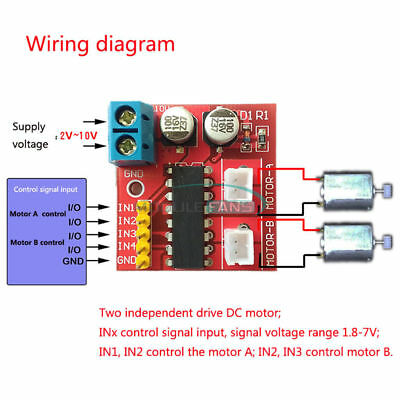 2.5a Dual Channel Dc Motor Driver Mini Module Beyond L298n Pwm Speed Control