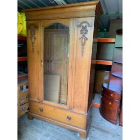Wooden large wardrobe
