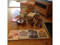 Wii with 15 slylanders figures, two controllers and four games in a very good condition