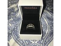 Pandora hearts tiara ring size 56