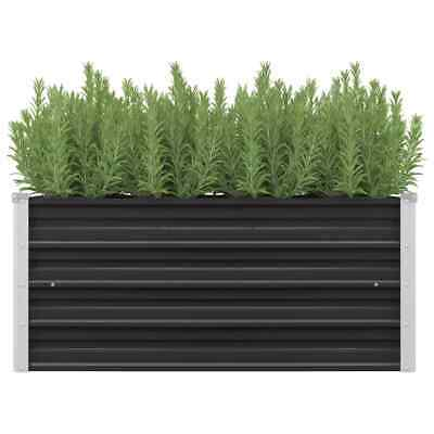 vidaXL Garden Raised Bed Anthracite 100x40x45cm Galvanised Steel Planter Pot