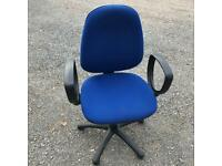 Job Lot Blue Office Swivel Chair