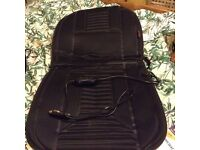 Pair of heated car seat covers, nearly new, inc adaptor
