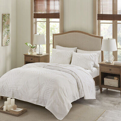 Madison Park Bahari 3 Piece Tufted Cotton Chenille Palm Cove