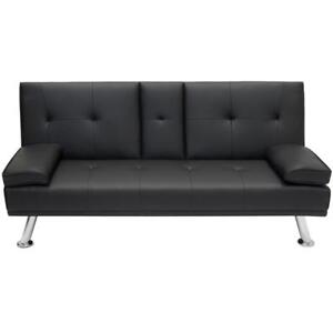 NEW SOFA BED COUCH SET FURNITURE WHITE OR BLACK LIVING ROOM AS LOW AS $199.95 EA