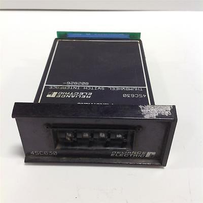 Reliance Thumbwheel Switch Interface 45c630 Pzb