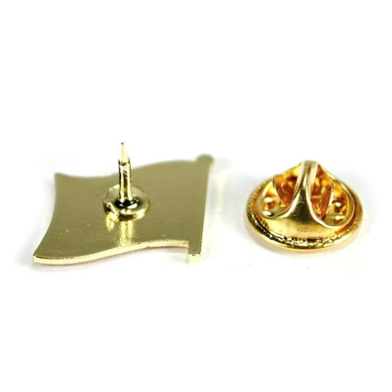 "CANADIAN FLAG LAPEL PIN 0.5/"" Canada Maple Leaf Pinback Hat Tie Tack Metal Badge"