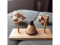 3 x wooden puzzles