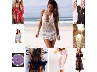 JOB LOT BUNDLE OF 10 BRAND NEW BEACH COVER UP LACE CROCHET DRESSES