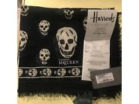 100%New McQueen pashmina scarves with label