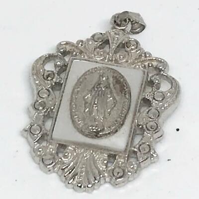 Vintage Mary Catholic Medallion Pendant