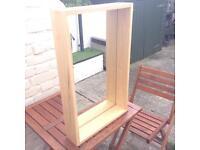MIRROR with large hardwood frame