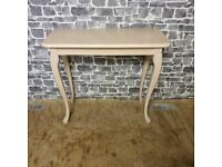 Painted Pink Console Table