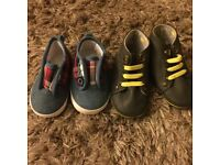 2 pairs baby boy shoes0-3 months