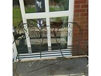 Old vintage cast iron bench