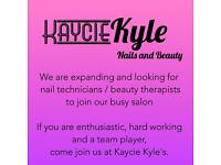 Part/full time nail technician in a busy salon