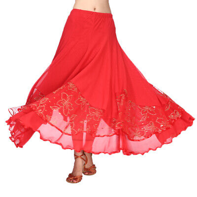 Frauen Flamenco Ballroom Tanz Rock Full Circle Swing Rock Kostüm
