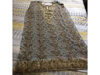 Pakistani heavy work shalwar kameez material