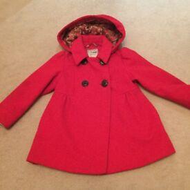 red girl next coat 4-5 years