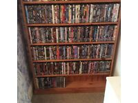 Pine Dvd cabinet with over 500 dvds