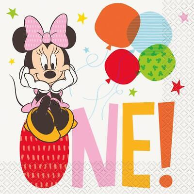 Baby Minnie Mouse 1st Birthday Lunch Napkins 16 Per Package Party Supplies New