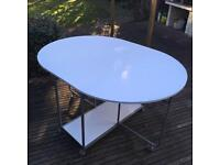 Folding white dining/utility table, large, good condition