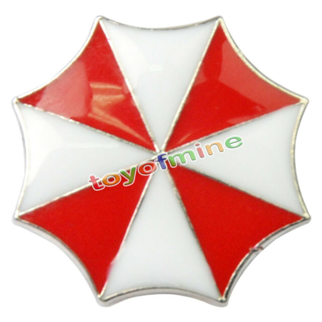 Resident Evil Umbrella Corporation Embroidered Logo Metal Badge