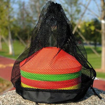 Mesh Bag Team Sports Net Soccer Football Disc Cones Storage Drawstring Gear