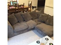 Grey Right Hand Corner Sofa