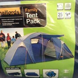Halfords 4 berth tent
