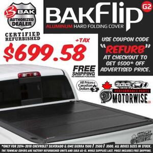 "BAKFlip 5'8"" G2 Hard Folding Tonneau Cover for 2014-2018 Silverado and Sierra 1500 