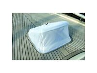 Blue Performance Hatch covers with integral mosquito nets