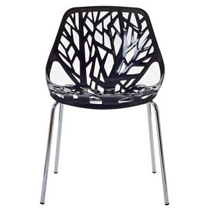 Striking Chromed Steel Forest Chair Black/White Punchbowl Canterbury Area Preview