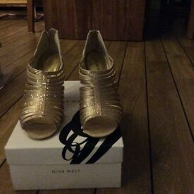 Gold Nine West sandals