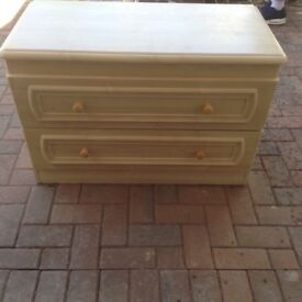 Two drawer chest of drawers/large bedside cabinets