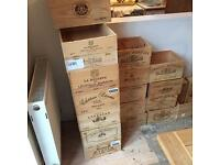 Various Genuine Wooden Wine Boxes Crates Chateau etc