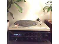 Technics Turntable Record Player with Denon Amp Receiver