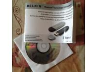 Belkin Bluetooth technology USB adapter-new -installation cd-manual-offers