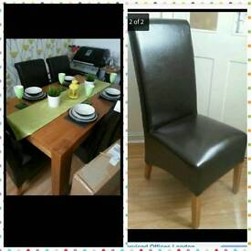 Dining room table with 6 leather seats