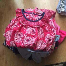 Bundle of girls clothes 12-18 months.