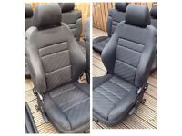RECARO SEATS: AUDI / VW GOLF MK4 GTI, SEAT LEON, SKODA FREE REAR SEATS INCLUDED £100