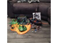 Playmobil pirate island bundle with ship and 6 figures