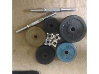 Free Weights (59kg) & Dumbells