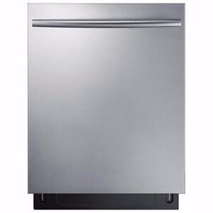 Lave-vaisselle avec troisième panier et technologie StormWash en acier inoxidable Samsung ( DW80K7050US )