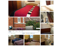 One large twin room, luxury accommodation, family house, Charminster