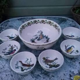 Portmeirion birds of britain bowls